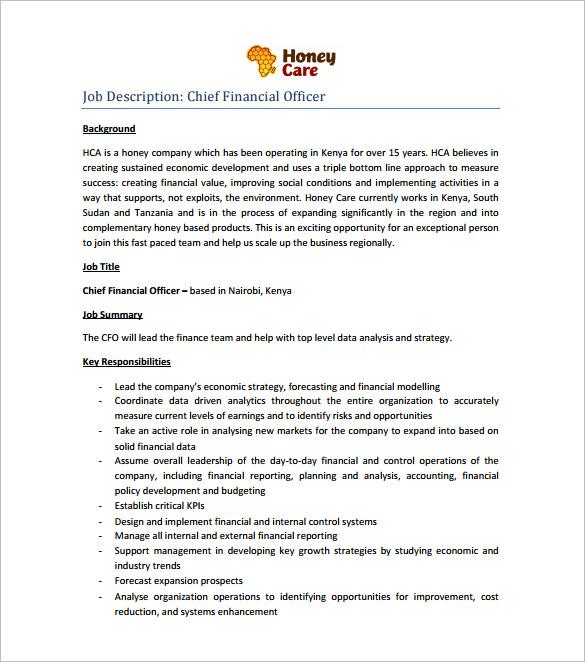 financial resume