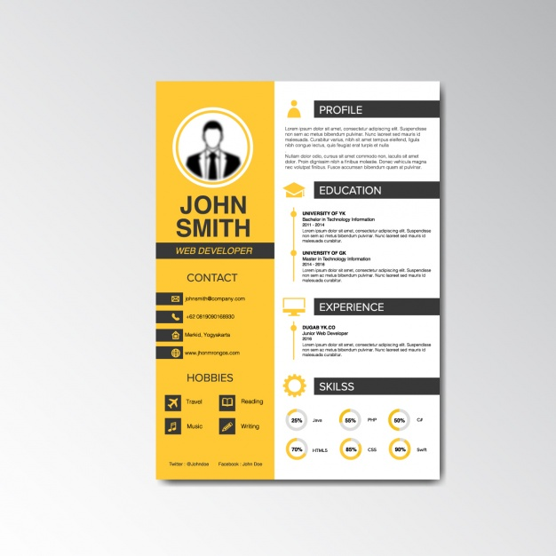 29 creative and beautiful resume templates wisestep free creative resume free creative resume download resume template yelopaper Images
