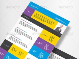 free indesign resume template