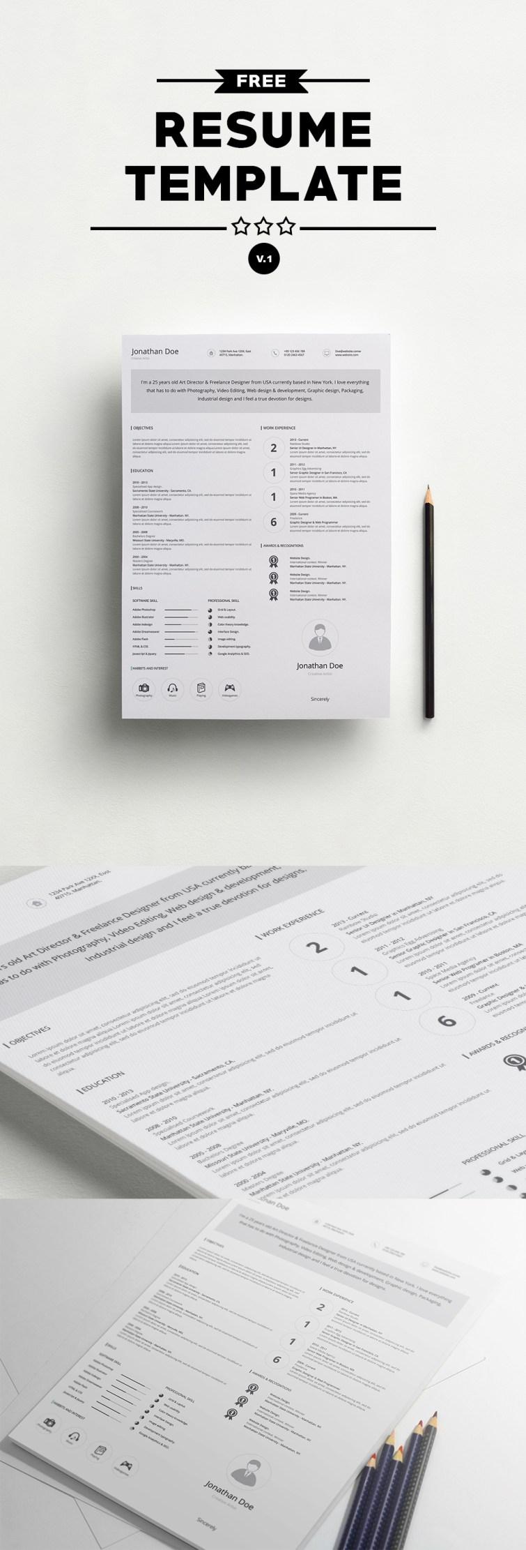 free professional resume