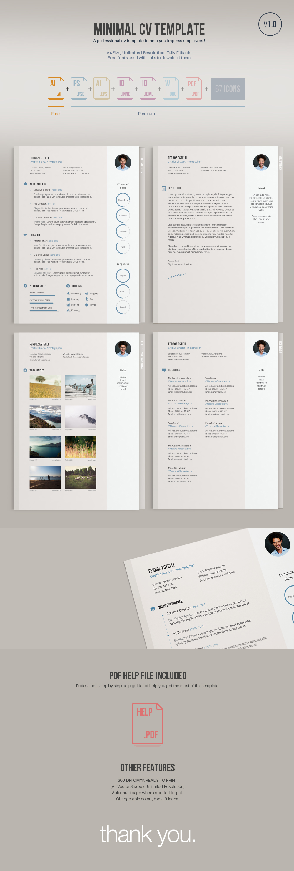 Download 29 Simple, Clean and Minimal Resume Templates - WiseStep
