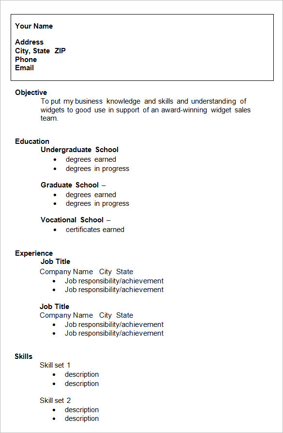 Superb Graduate Resume Sample