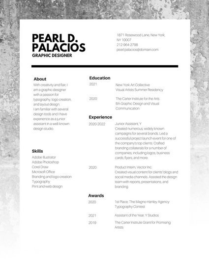 graphic design resume template - Resume Templates For Graphic Designers