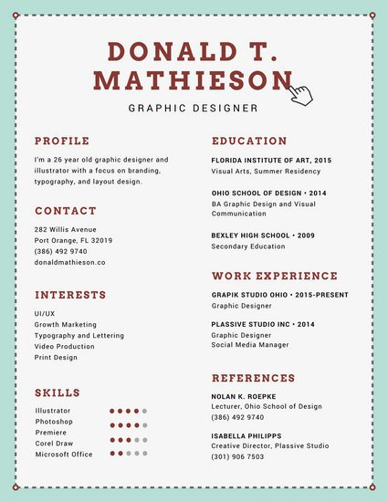 Graphic Designer Resume Format