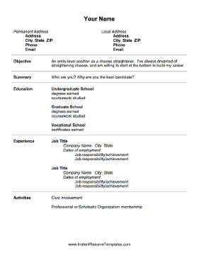 30 Simple and Basic Resume Templates for all Jobseekers ...