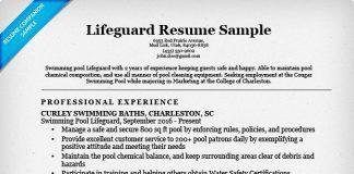 lifeguard resume