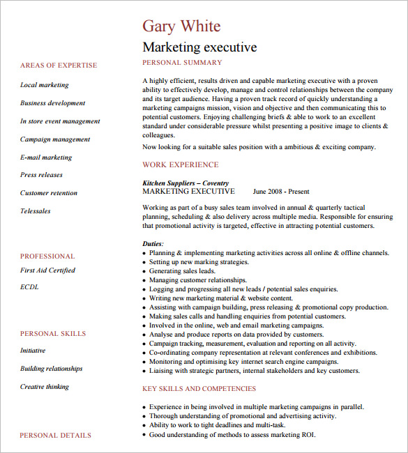 Resume Design For Executives Executive Format Resume Resume