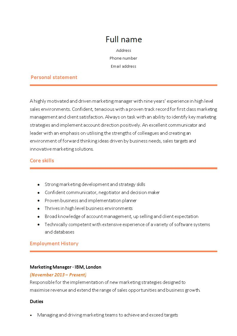 21 perfect marketing resume templates for every job seeker