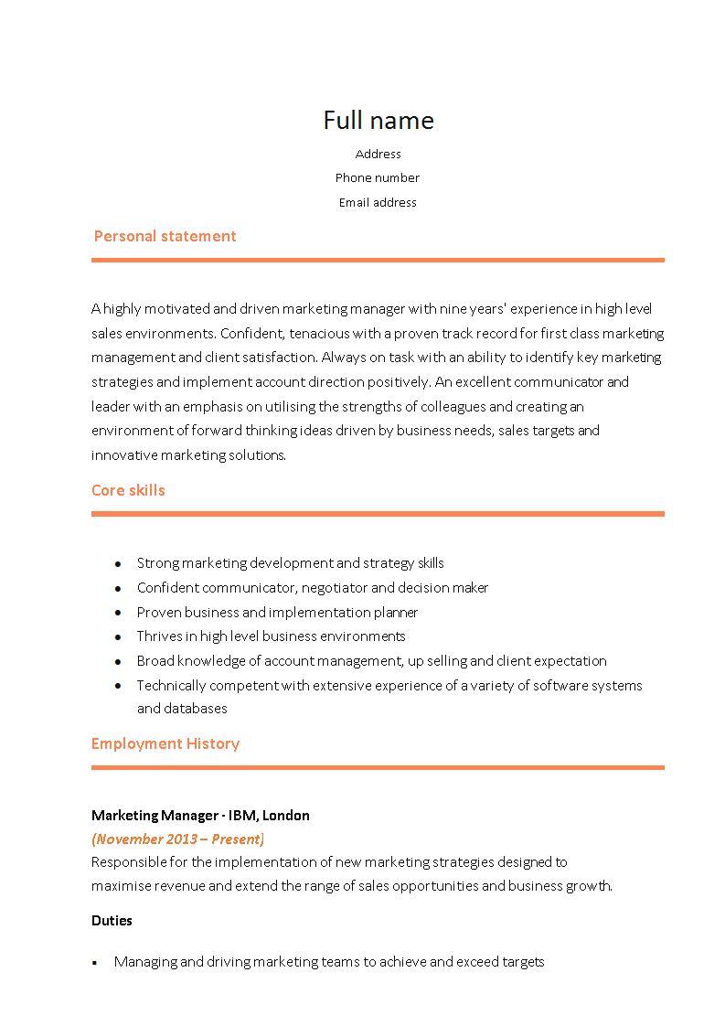 marketing resume templates - solarfm.tk