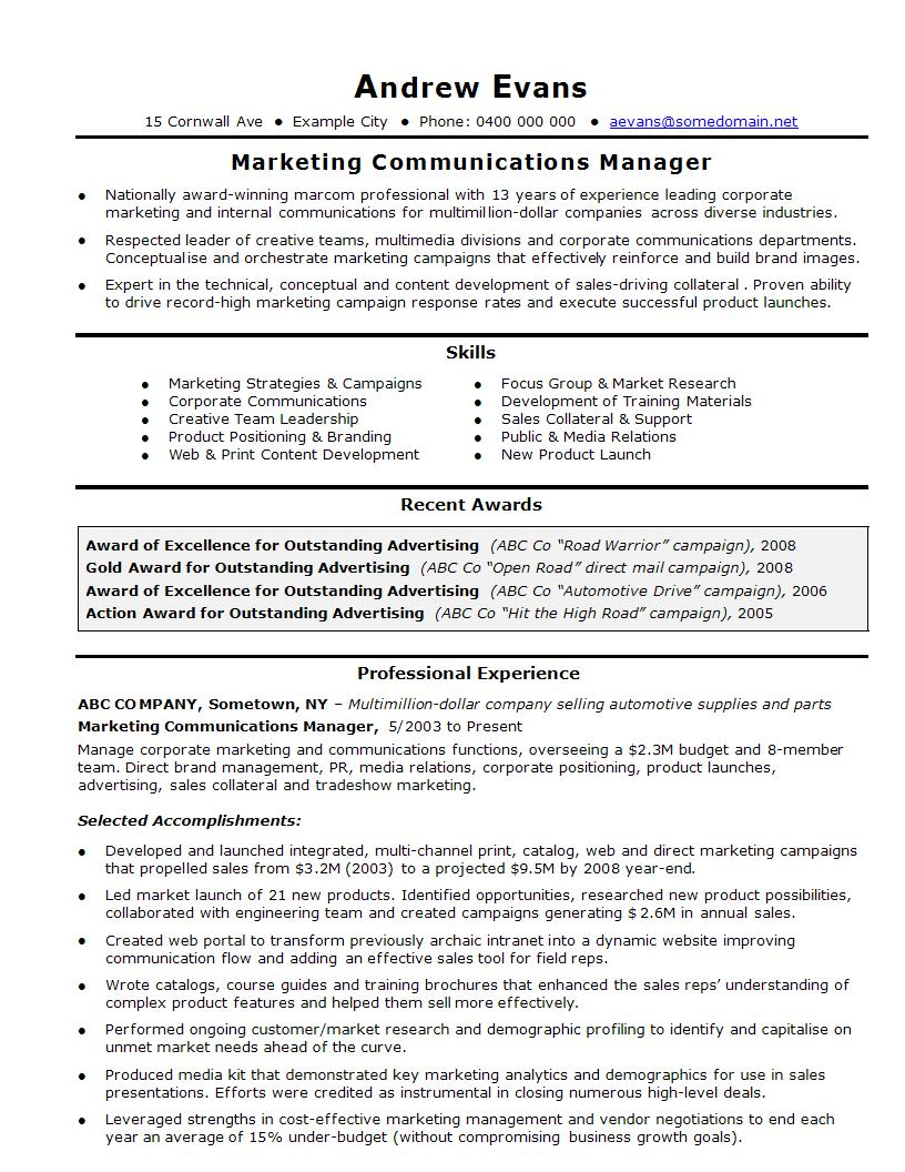 marketing resumes - solarfm.tk