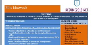 medical assistant job resume