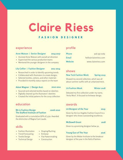 29 Creative And Beautiful Resume Templates - Wisestep