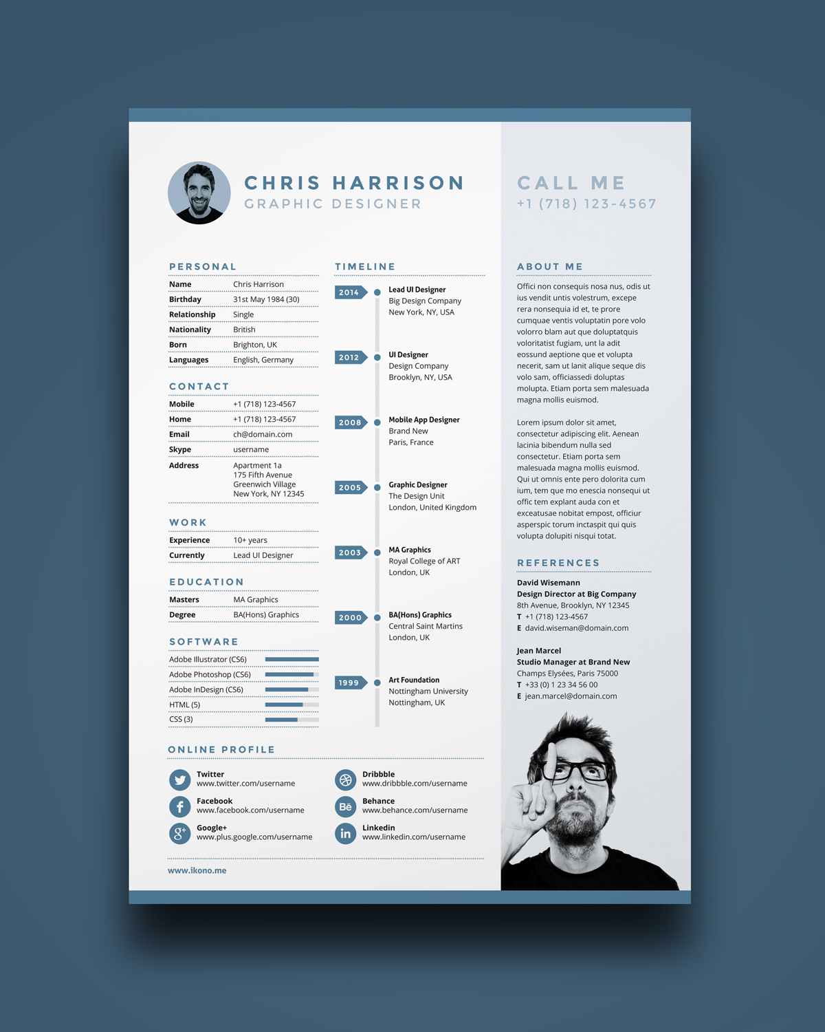 modern resume download resume template - Modern Resume Templates Free