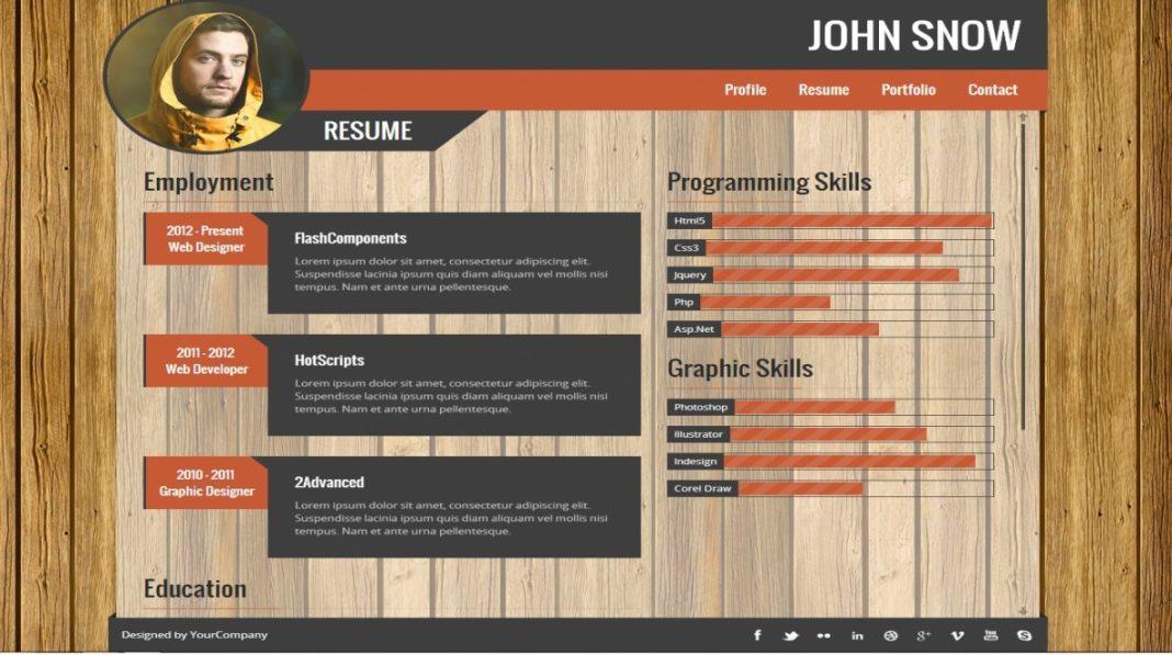 portfolio template design