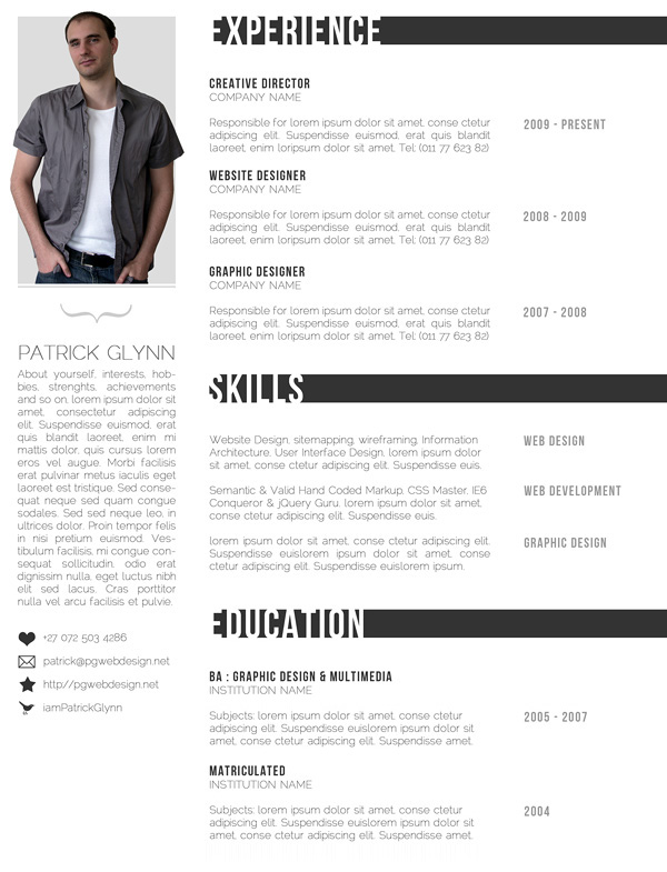 29 Creative And Beautiful Resume Templates Wisestep