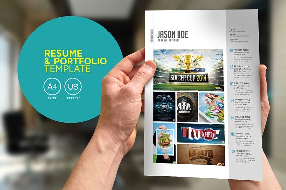 resume and portfolio template
