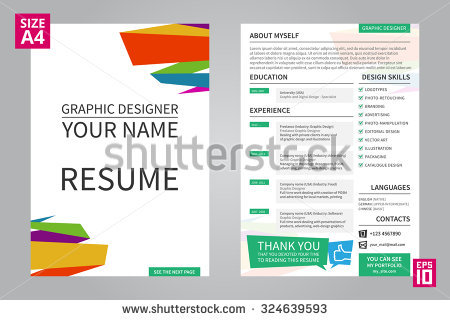 resume template for graphic designer