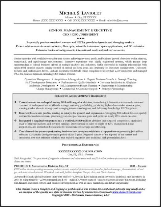 Winning Resume Samples  Sample Resume And Free Resume Templates