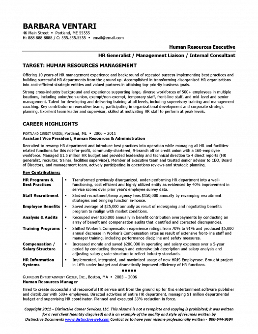 sle resume for hr