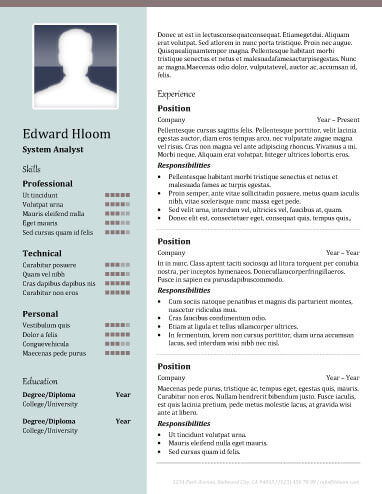 2 column resume template 22 contemporary resume templates free - Resume Template 2 Column