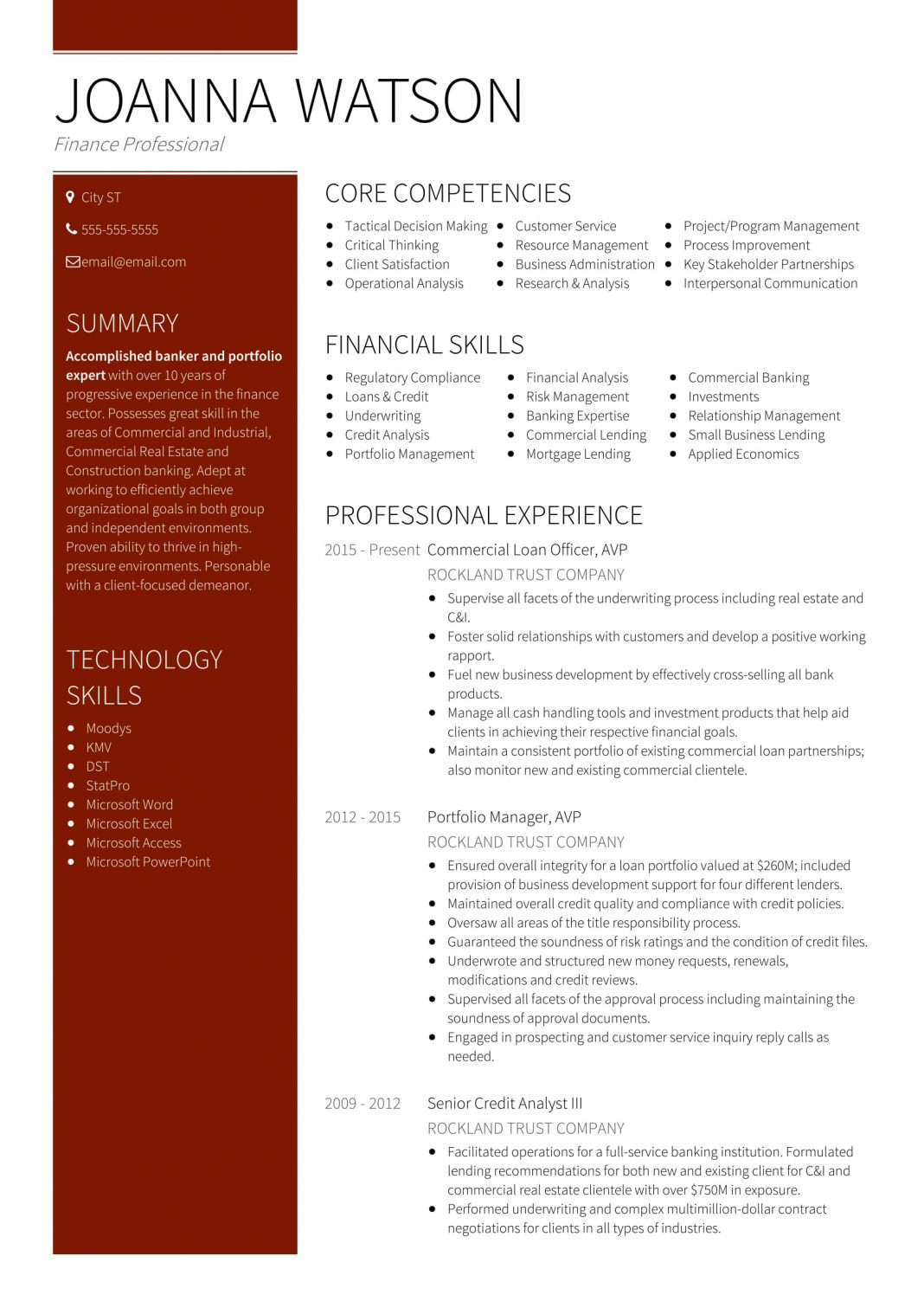 team resume sample
