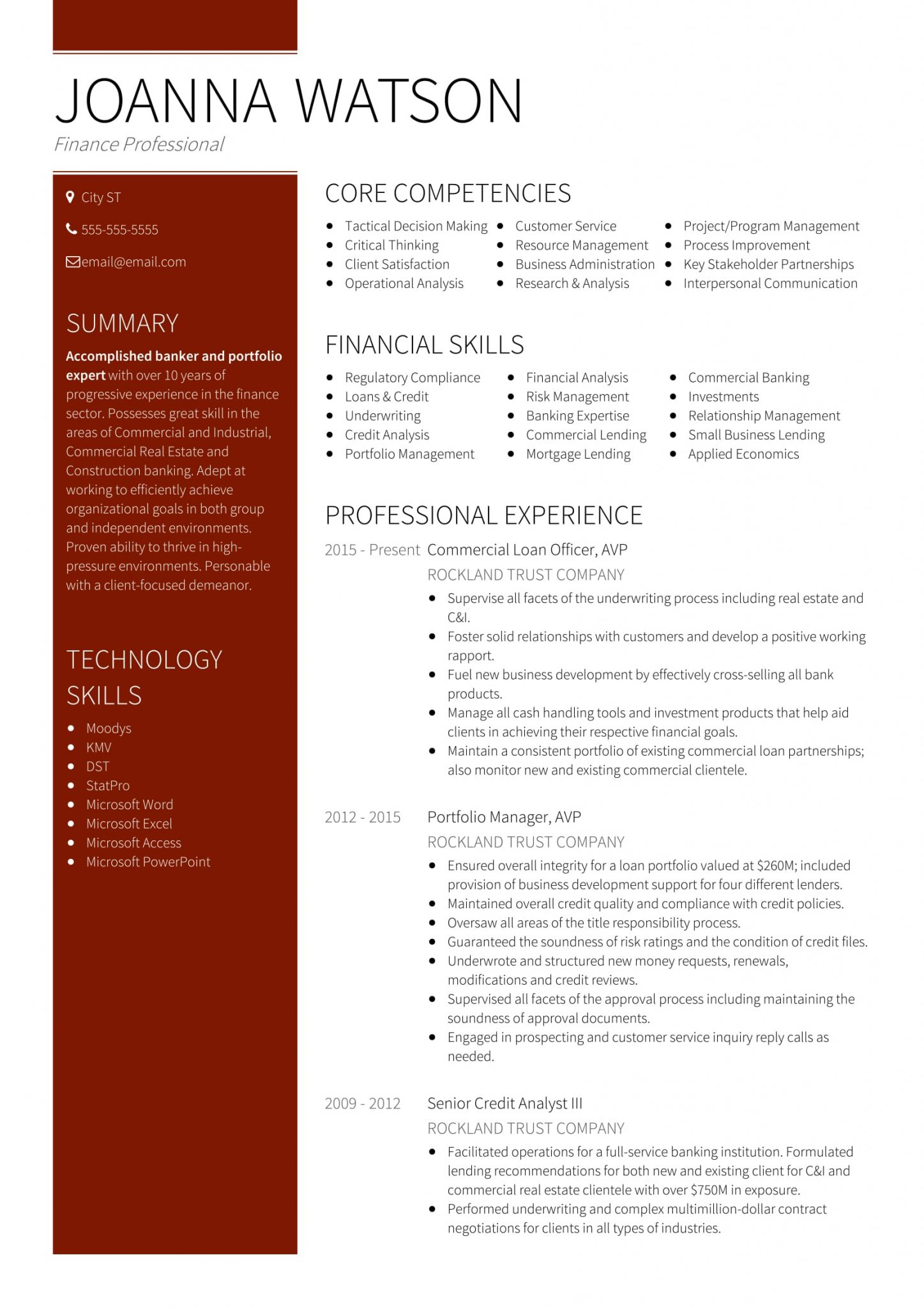 18 Best Banking Sample Resume Templates Wisestep