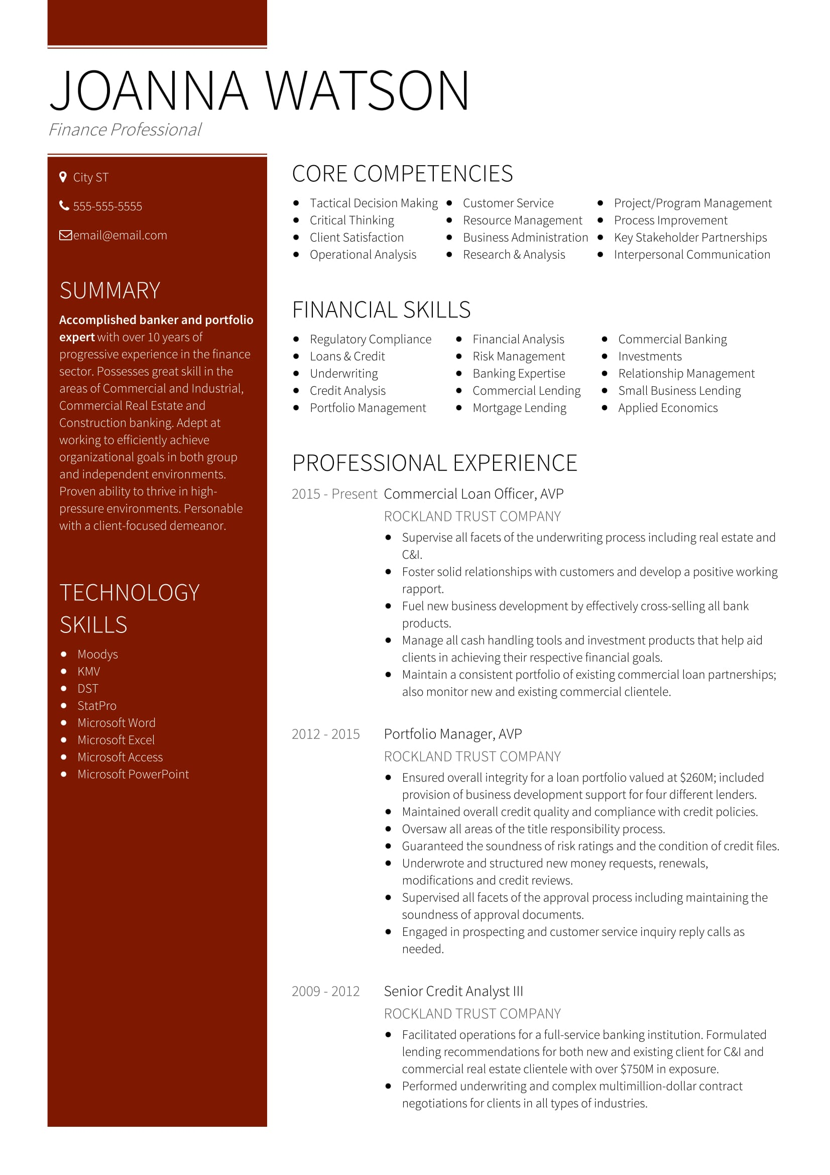 18 best banking sample resume templates
