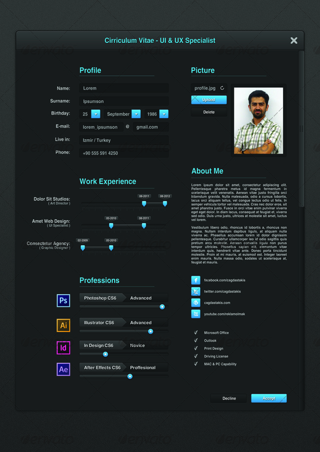 ui developer resume Ui Designer Resume