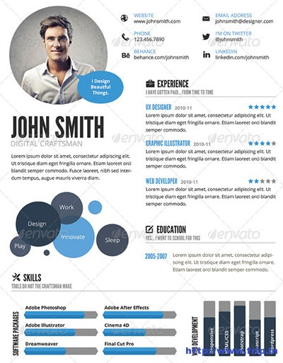 Visual Resume Samples
