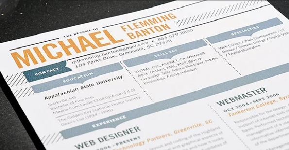 web designer resume format