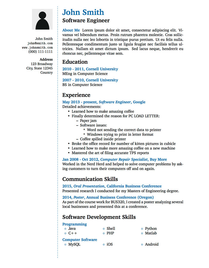 winning resume template