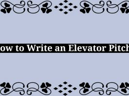 How to Write an Elevator Pitch