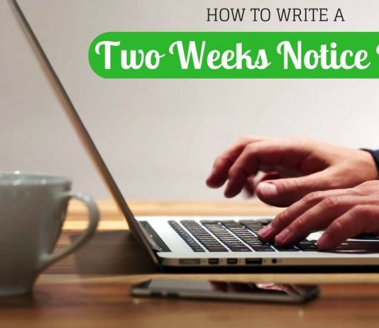 Two Weeks Notice Letter