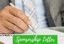 Writing Sponsorship Letter
