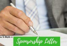 Writing Sponsorship Letter