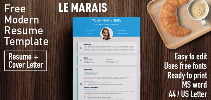 Modern Cv Format. Download Resume Template