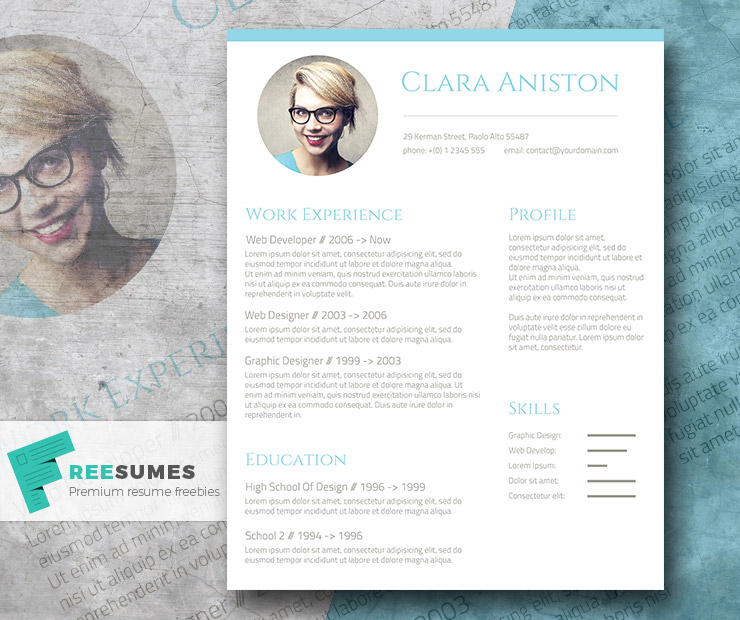 photo resume template