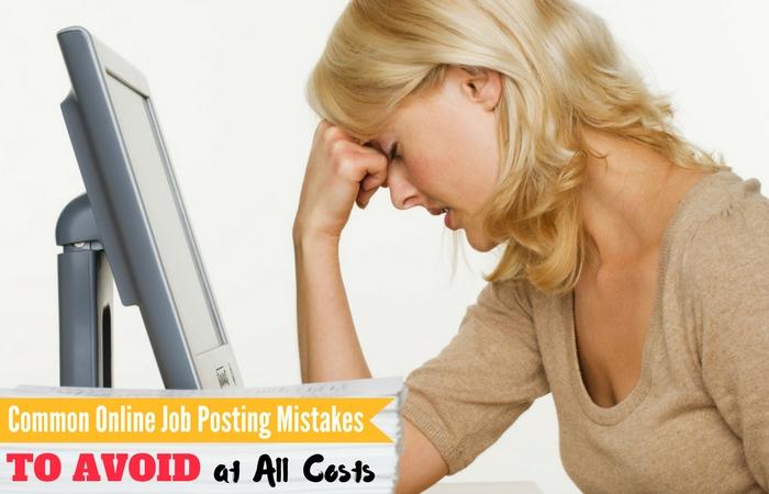 Online Job Posting Mistakes