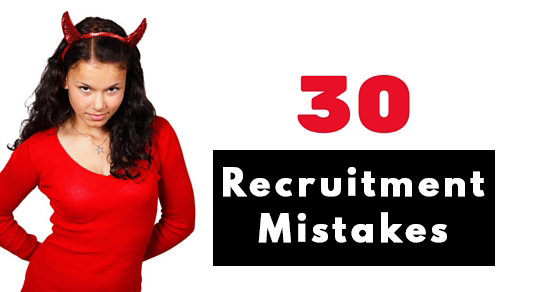 Recruitment Mistakes