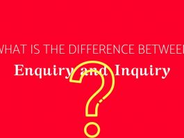 Enquiry and Inquiry