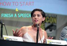 Start and Finish Speech