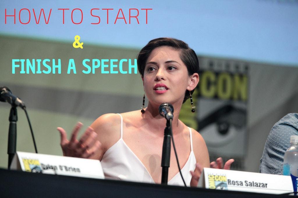 how to start a speach