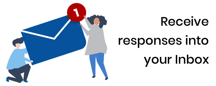 Receive responses into your Inbox