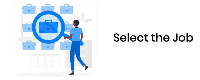 Select the Job