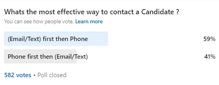 Best Way to Contact a Candidate